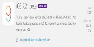 iOS 9.2.1 betaPRE-RELEASE