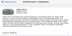 أبل تطلق تحديثها الجديد IOS 10.2