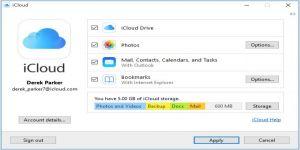 الإصدار 6.2 من iCloud لـ Windows