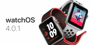 أحدث إصدار Apple Watch  من watchOS 4.0.1.